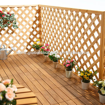 China Foshan tile factory natural timber terrace decking wooden