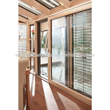 China Wooden Aluminum Sunrooms, Winter Garden /sun house on Global