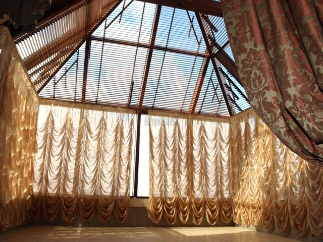Skirpus sunshield blinds for winter garden W1 | Skirpus wooden