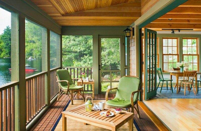 Amazing Green Porch Design