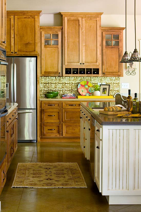 Elegant Kitchens with Warm Wood Cabinets | Traditional Home