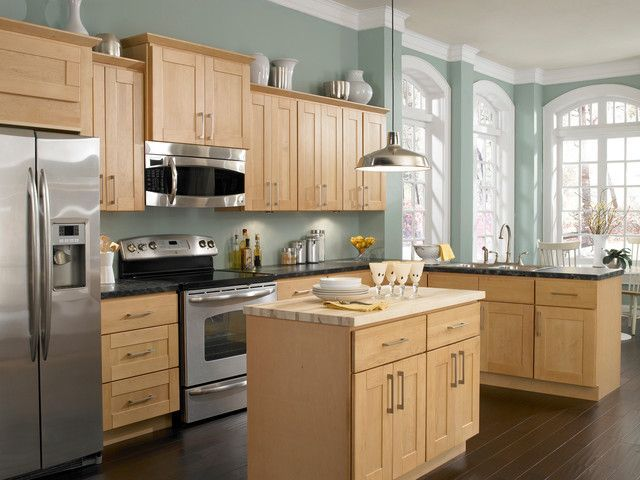 Kitchen Colors With Oak Cabinets Pictures | kitchen | Kitchen wall