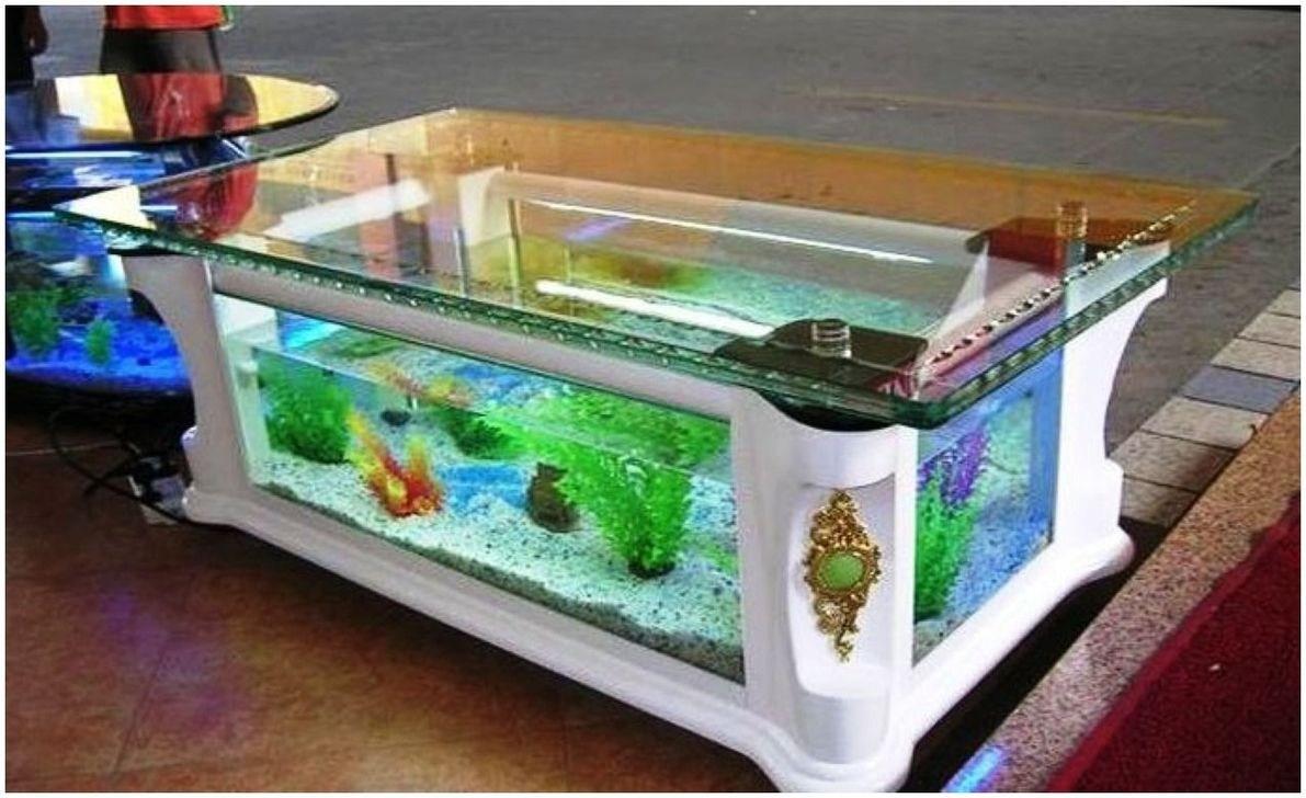 50 Amazing Aquarium Feature Coffee Table Design Ideas - HOMISHOME