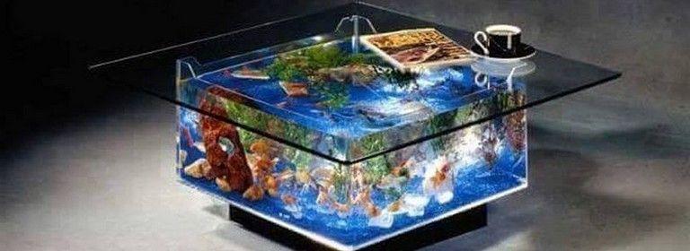 30+ Irresible Aquarium Feature on Coffee Table Design Ideas