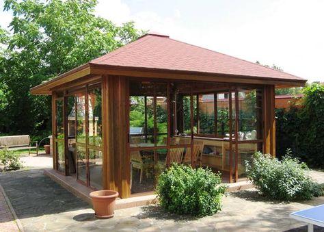 22 Beautiful Garden Design Ideas, Wooden Pergolas and Gazebos