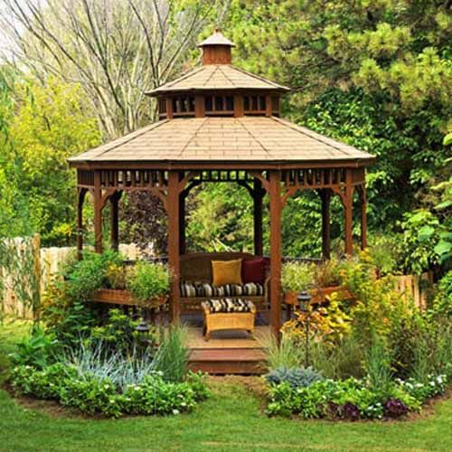 22 Beautiful Metal Gazebo and Wooden Gazebo Designs | Projects to