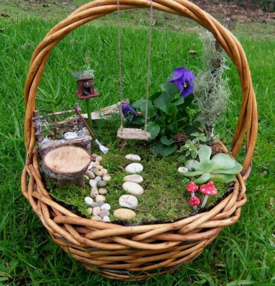 18 Most beautiful fairy garden ideas - 101 Recycled Crafts
