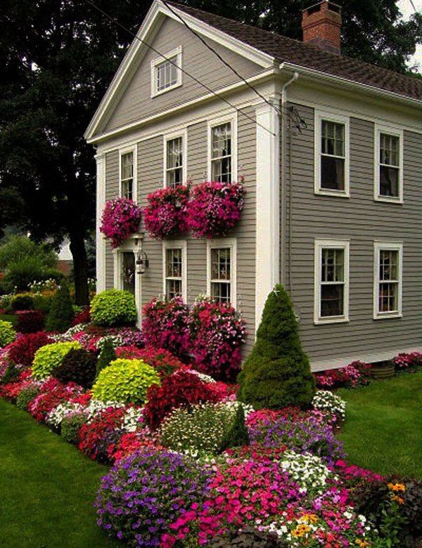 Curb Appeal: 20 Modest yet Gorgeous Front Yards | Front yards, Curb