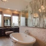 Beautiful Stone Backsplash Bathroom Design Ideas