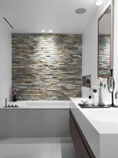 Beautiful backsplash! Love the pairing of the white and brown in