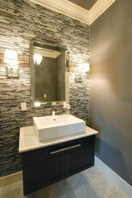 25 Modern Powder Room Design Ideas | Powder Bathrooms | Bathroom