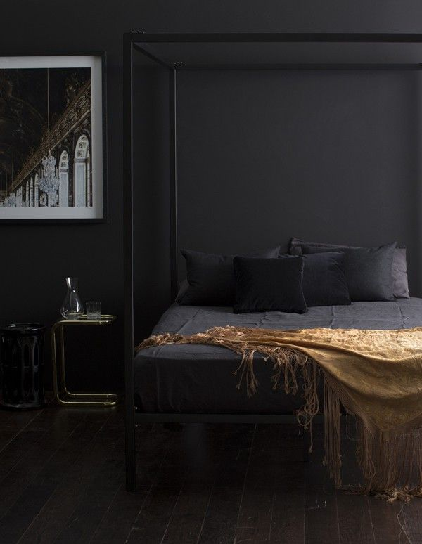 Bedroom Designs With Dark Wall 2