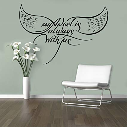My Angel Always with Me Wall Decal Motivational Quotes Wall Sticker