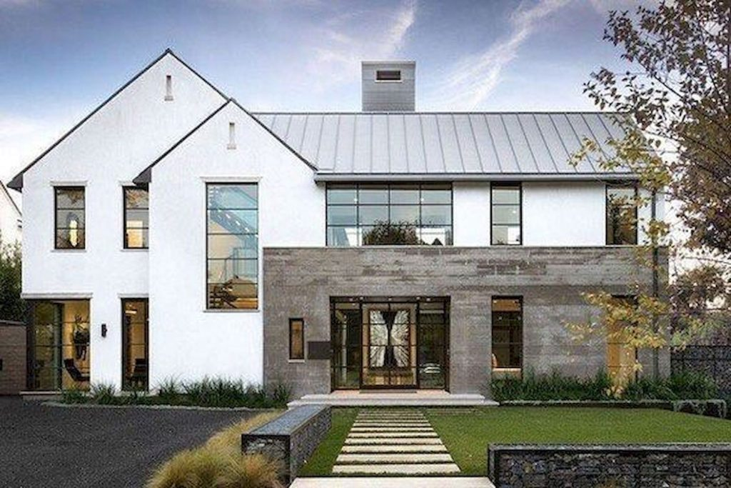Best Modern Farmhouse Exterior Design Ideas 7