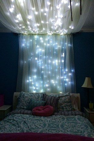Add some string lights to create an extra whimsical effect. | room
