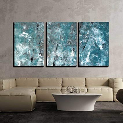 Amazon.com: wall26 - 3 Piece Canvas Wall Art - Teal and Grey