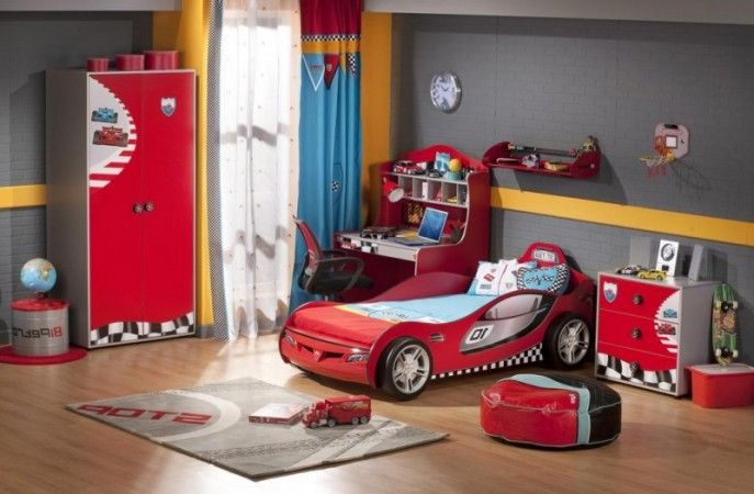 Kids Room:Popular Cars and Safari Themes Child Bedroom Decoration