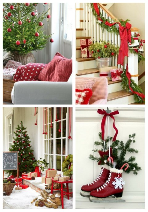 Red And Green Christmas Home Decor Ideas | ComfyDwelling.com