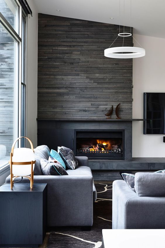25 Stylish Ways To Clad Or Cover A Fireplace - DigsDigs