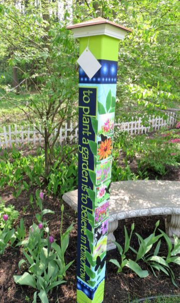 Colorful Peace Poles Design Ideas 3 #whimsicalgardenideas | Things I