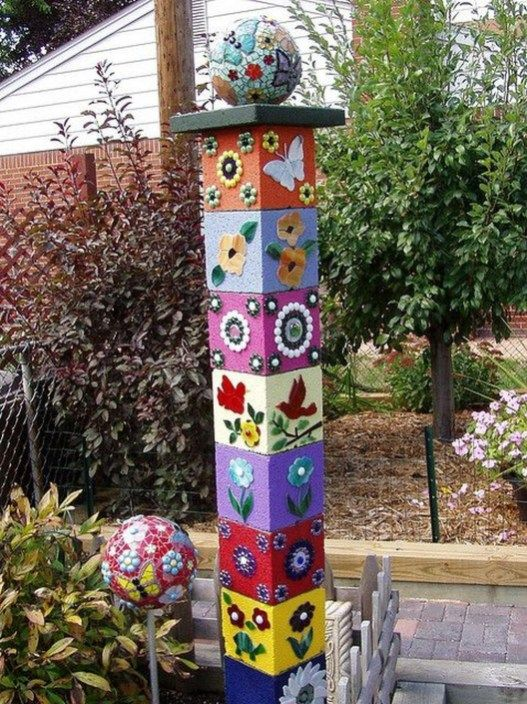 47 Wonderful Colorful Peace Poles Design Ideas For Your Garden