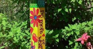 Colorful Peace Poles Design Ideas 18   Hand painted furniture