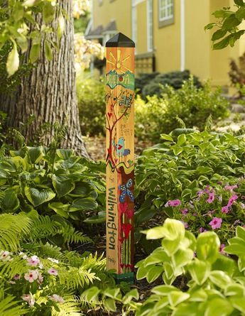 41 Colorful Peace Poles Design Ideas For Your Garden | Peace pole