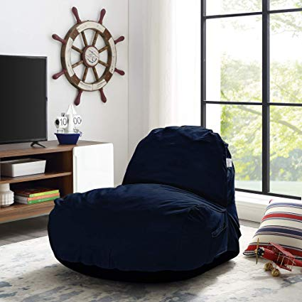 Amazon.com: Loungie Blue Foam Lounge Chair - Design: Cosmic | Nylon