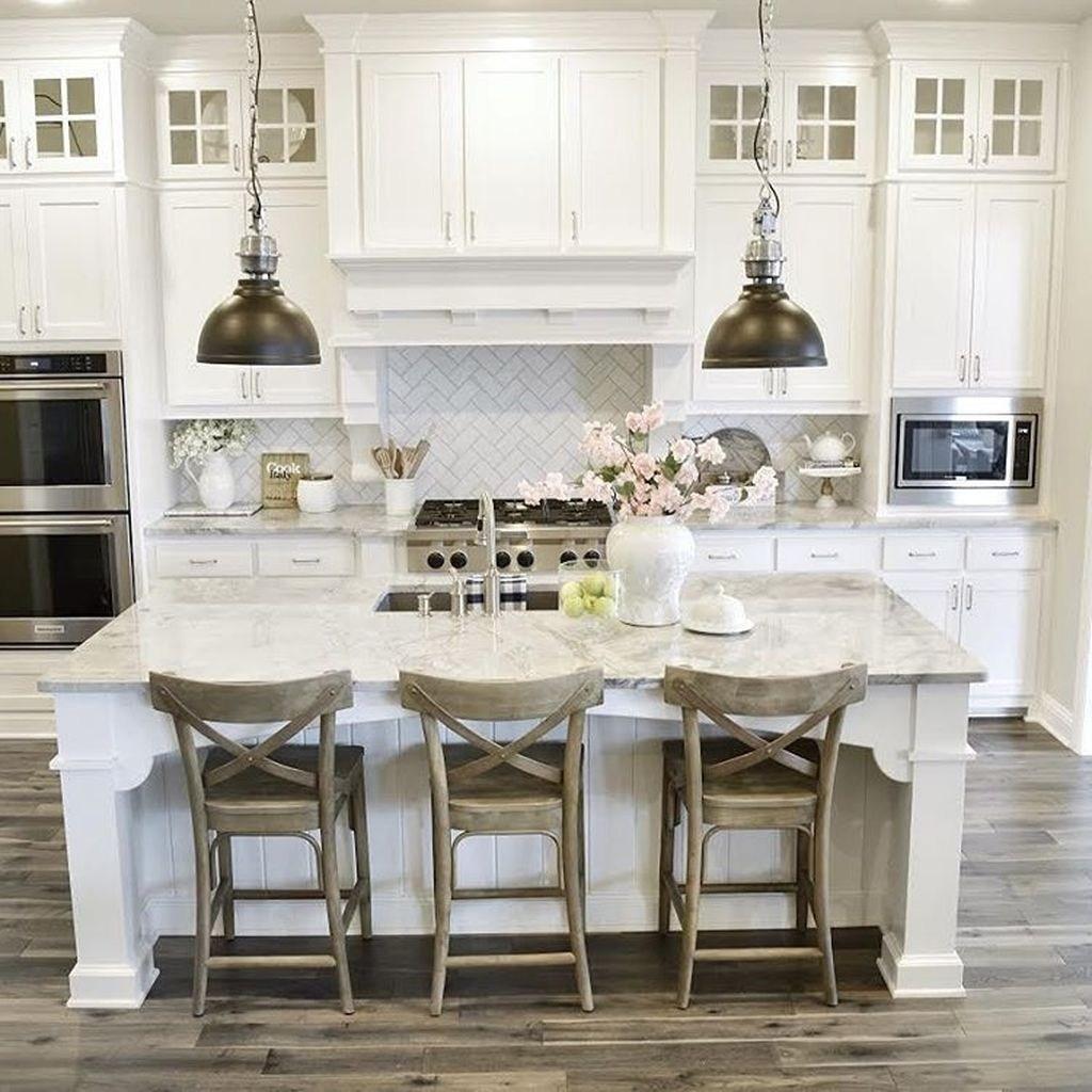 45 Comfy Farmhouse Kitchen Design Ideas - HOOMDSGN