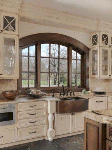 Comfy Farmhouse Kitchen Design Ideas 13 | Grapevine Dream in 2019