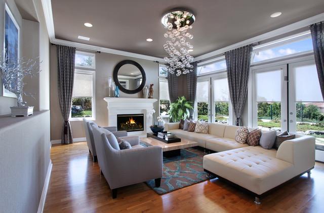 27 Diamonds Interior Design - Contemporary - Living Room - Orange