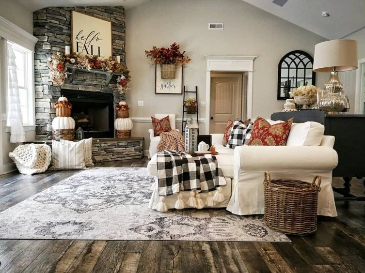 47 Cool Dreamy Christmas Living Room Decor Ideas | Home Decor