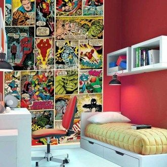 41 Inspiring Cool Superhero Themed Room Decoration Design | For the