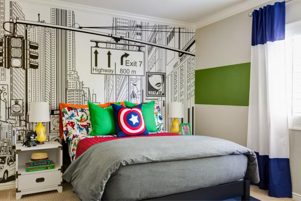 This Superhero-Themed Kid's Room Will Knock Your Socks Off