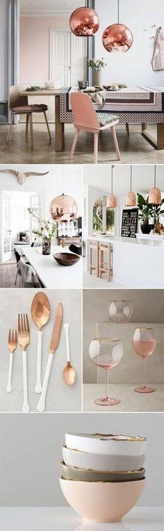 102 Best ROSE GOLD KITCHEN IDEAS images | Kitchen ideas, Rose gold