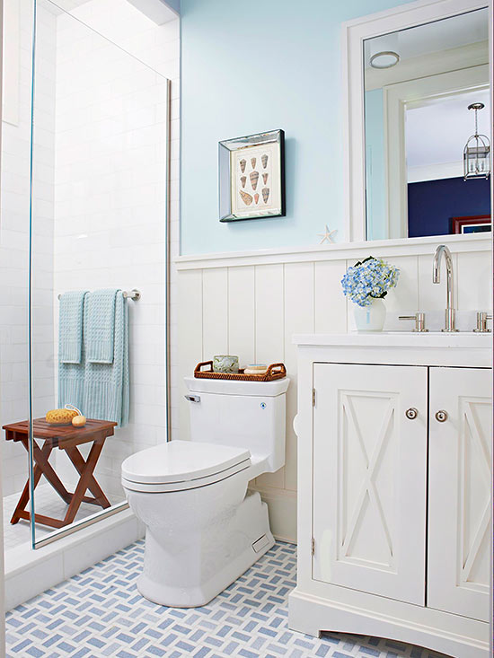 Bathroom Tour: Blue White Cottage Style, Remodel Ideas 1000 Images
