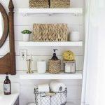 Country Bathroom Shelves Ideas