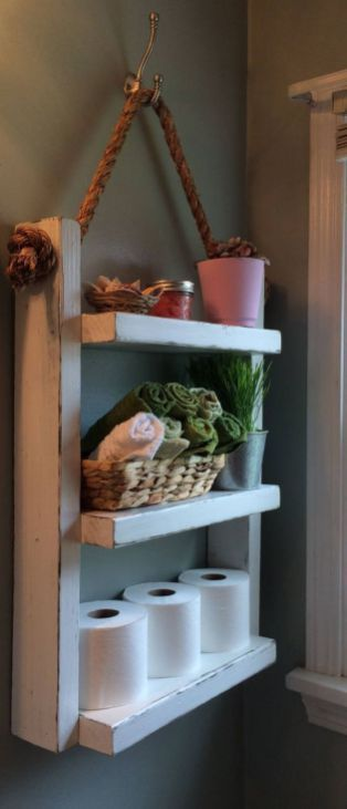 Rustic Country Bathroom Shelves Ideas 21 #CountryBathrooms | Country