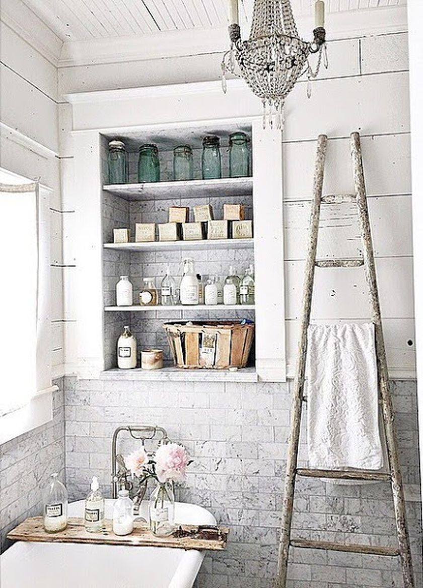 30 Rustic Country Bathroom Shelves Ideas that You Must Try - DecOMG