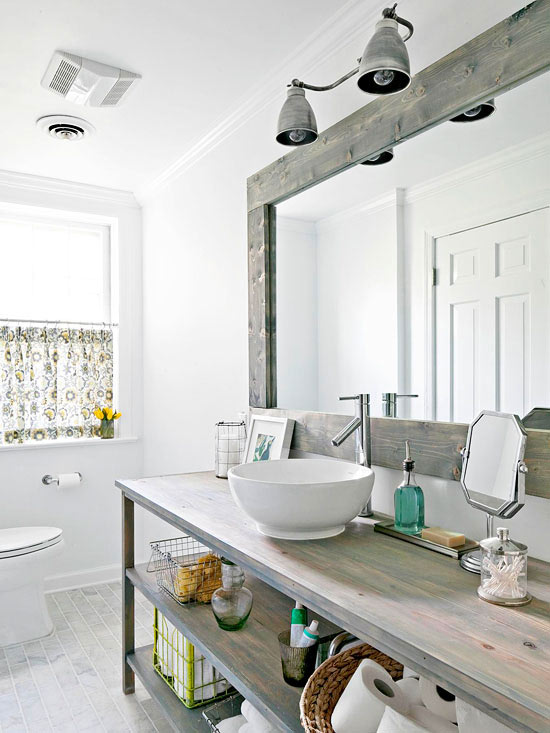 A Modern Country Bath | Better Homes & Gardens