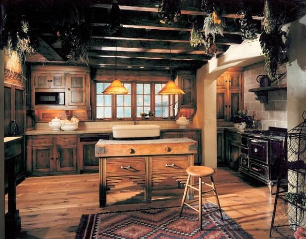 20 Cozy Rustic Kitchen Design Ideas - Style Motivation