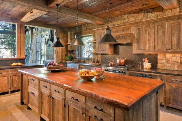 Rustic furniture in the kitchen u2013 a romantic and cozy interior