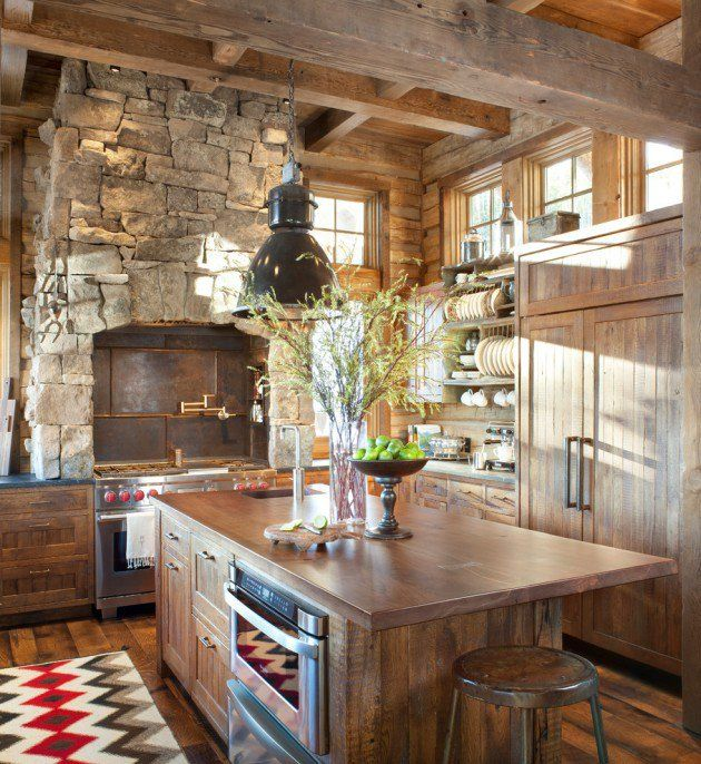 15 Warm & Cozy Rustic Kitchen Designs For Your Cabin | Pole Barn