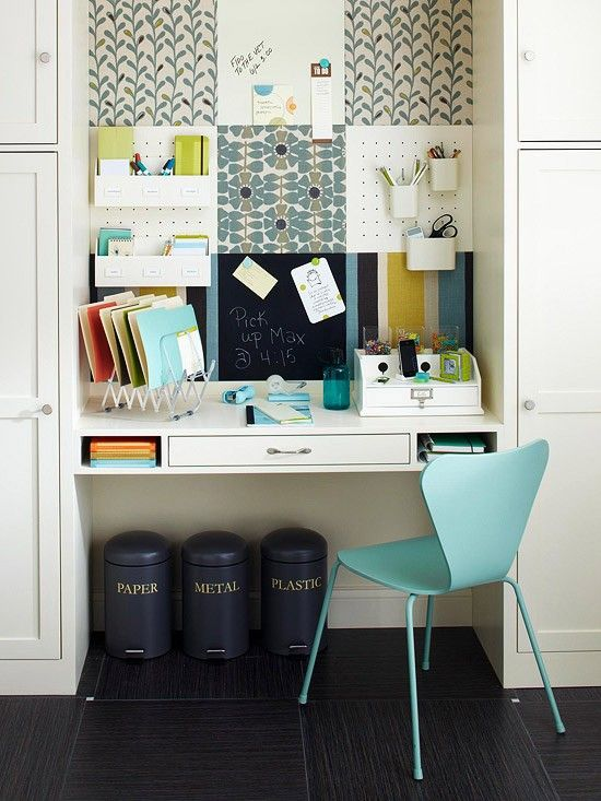 Study Room Ideas. cork board panels above desk | Home in 2019 | Home