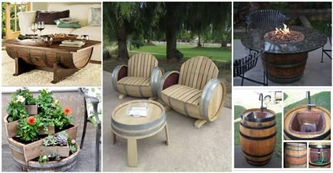 Creative Ideas Using Old Wine Barrels 11