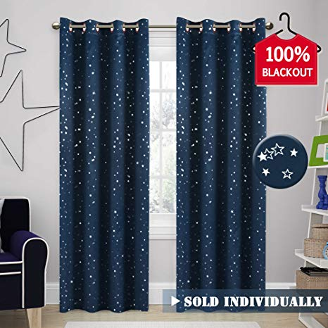 Amazon.com: H.VERSAILTEX 100% Blackout Star Curtains for Boys Room