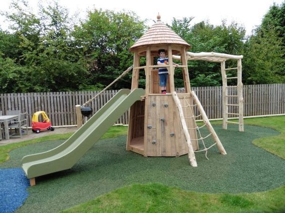 19 Creative and Cute Garden Playgrounds for Kids | garden playground