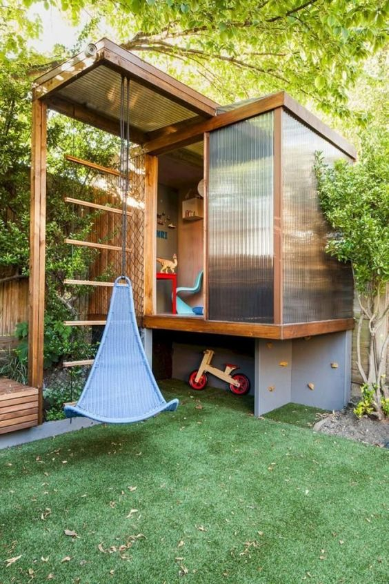 19 Creative and Cute Garden Playgrounds for Kids