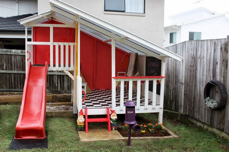 38 Inspiring And Cute Backyard Garden Playground For Kids