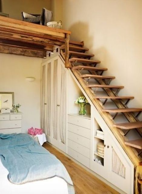 26 Creative And Space-Efficient Attic Ladders - Shelterness